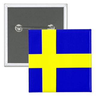 Flagga av sverigen standard kanpp fyrkantig 5.1 cm