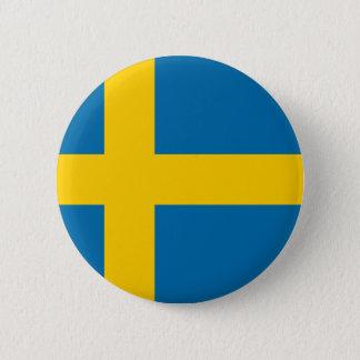 Flagga av sverigen standard knapp rund 5.7 cm