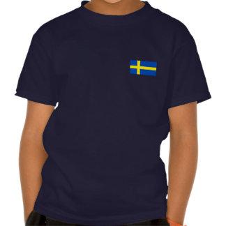 Flagga av sverigen tee shirt