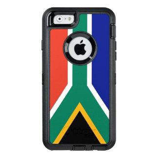 Flagga av Sydafrika OtterBox Defender iPhone Skal