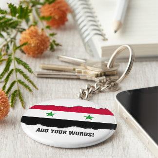 Flagga av Syrien Rund Nyckelring