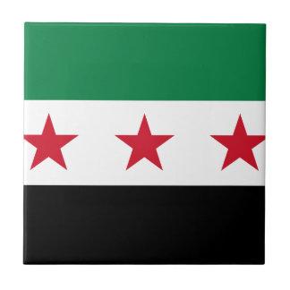 Flagga av Syrien - syriansk självständighetflagga Liten Kakelplatta