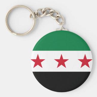 Flagga av Syrien - syriansk självständighetflagga Rund Nyckelring