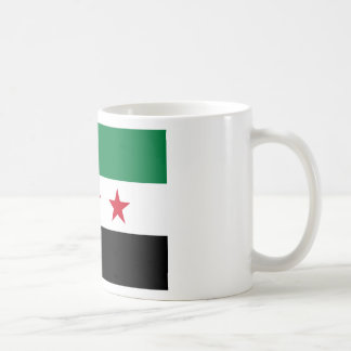 Flagga av Syrien - syriansk självständighetflagga Vit Mugg