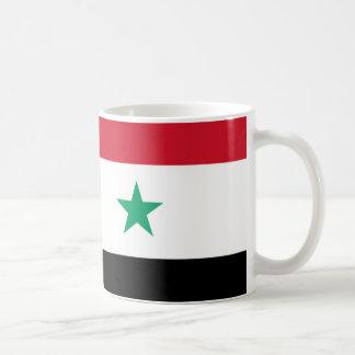Flagga av Syrien Vit Mugg