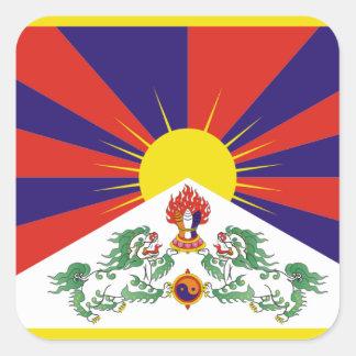 Flagga av Tibet Fyrkantigt Klistermärke