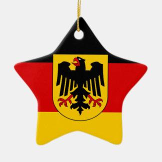 Flagga av Tysklandet - Bundesdienstflagge Julgransprydnad Keramik
