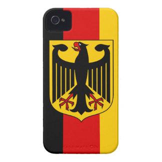 Flagga av Tysklandet med vapenskölden - blackberry iPhone 4 Hud