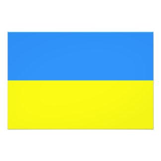 Flagga av Ukraina Fotontryck