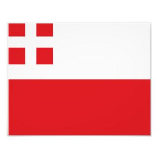 Flagga av Utrecht (landskapet) Fototryck