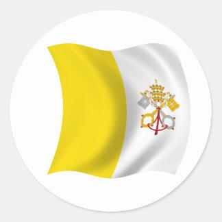 Flagga av Vaticanet City Runt Klistermärke