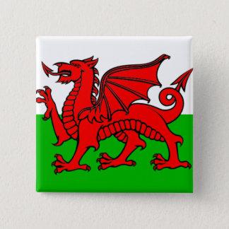 Flagga av Wales Standard Kanpp Fyrkantig 5.1 Cm