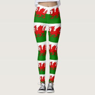 Flagga av Wales walesiska Baner Cymru Leggings