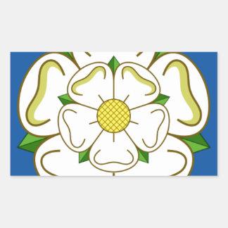 Flagga av Yorkshire Rektangulärt Klistermärke