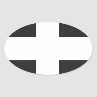 Flagga Cornwall Kernow för St Pirans Ovalt Klistermärke