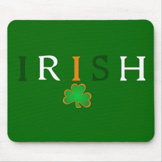 Flagga färgad irländare med Shamrockdesign Musmatta