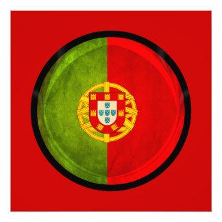 flagga för 3D Portugal Fototryck