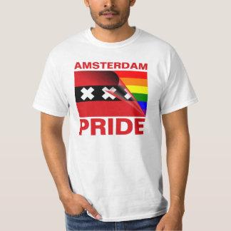 Flagga för Amsterdam gay prideregnbåge Tee Shirts