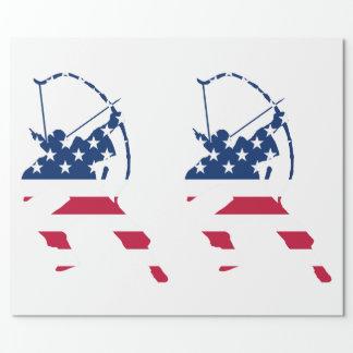 Flagga för bågskytt för USA bågskytteamerikan Presentpapper