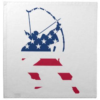 Flagga för bågskytt för USA bågskytteamerikan Tygservett