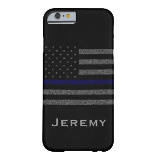 Flagga för blålinjen för känd Grunge för personlig Barely There iPhone 6 Fodral