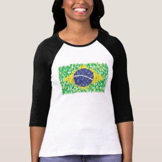 Flagga för Brasilien medborgarefotboll (Futebol Tee Shirt