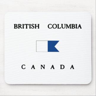 Flagga för British Columbia Kanada alfabetiskdyk Musmatta