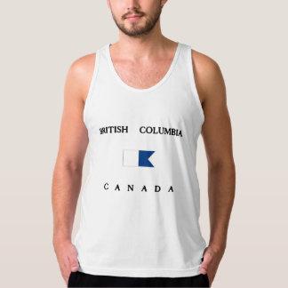 Flagga för British Columbia Kanada alfabetiskdyk Tanktop