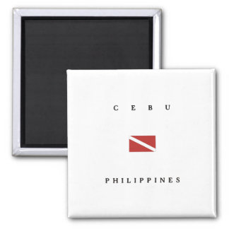 Flagga för Cebu Philippines Scubadyk Magnet