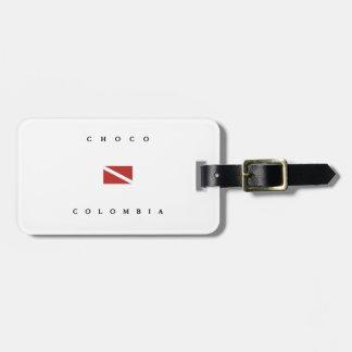 Flagga för Choco Colombia Scubadyk Bagagebricka