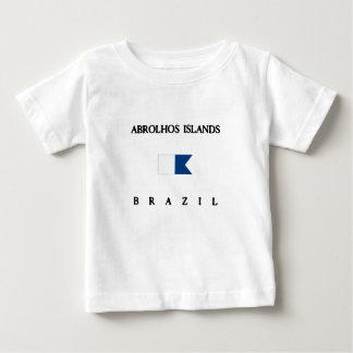 Flagga för dyk för Abrolhos öBrasilien alfabetisk T-shirts