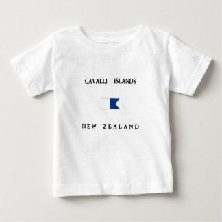 Flagga för dyk för alfabetisk för Cavalli öar T-shirts