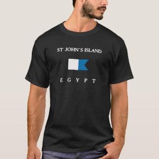 Flagga för dyk för alfabetisk för St Johns T Shirt