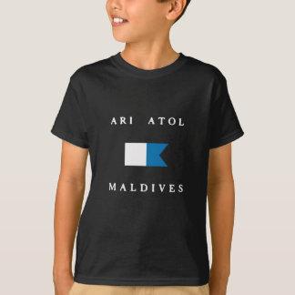 Flagga för dyk för Ari AtollMaldiverna alfabetisk Tröjor