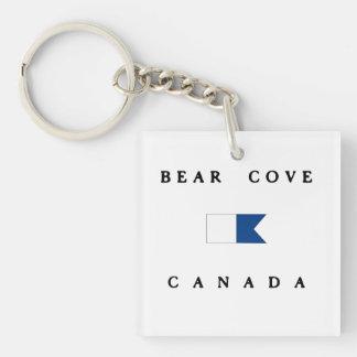 Flagga för dyk för björnCoveKanada alfabetisk