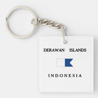 Flagga för dyk för Derawan öIndonesien alfabetisk