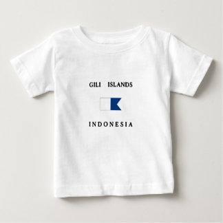 Flagga för dyk för Gili öIndonesien alfabetisk Tee Shirt