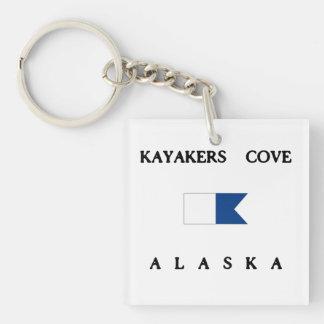 Flagga för dyk för KayakersCoveAlaska alfabetisk
