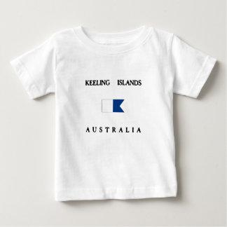 Flagga för dyk för Keeling öalfabetisk T-shirts