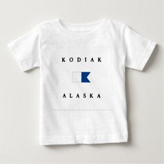Flagga för dyk för KodiakAlaska alfabetisk T-shirts
