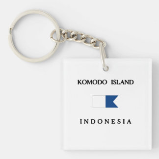 Flagga för dyk för Komodo öIndonesien alfabetisk