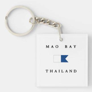 Flagga för dyk för Mao fjärdThailand alfabetisk