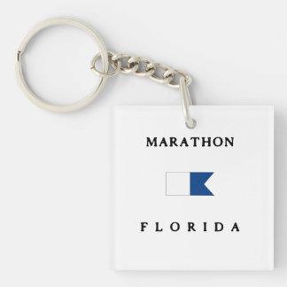 Flagga för dyk för maratonFlorida alfabetisk