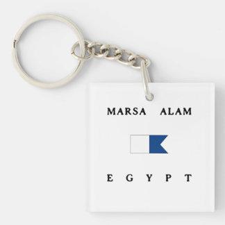 Flagga för dyk för Marsa Alam egyptenalfabetisk