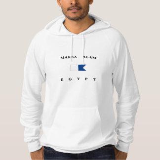 Flagga för dyk för Marsa Alam egyptenalfabetisk Sweatshirt