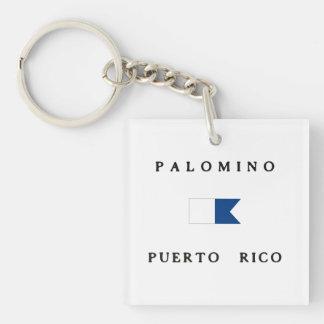 Flagga för dyk för PalominoPuerto Rico alfabetisk