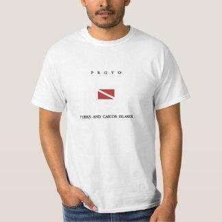 """Flagga för dyk för Provo """"Turks och Caicos"""" öScuba Tröjor"""