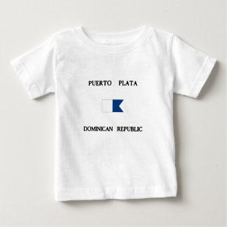 Flagga för dyk för Puerto Plata Dominikanska Tee Shirts
