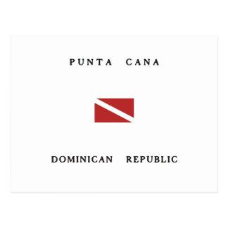 Flagga för dyk för Punta Cana Dominikanska Vykort