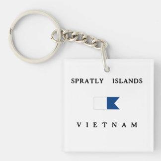 Flagga för dyk för Spratly öVietnam alfabetisk
